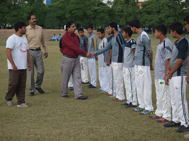 Sports - Final Cricket match - Boys School 27 October, 2015
